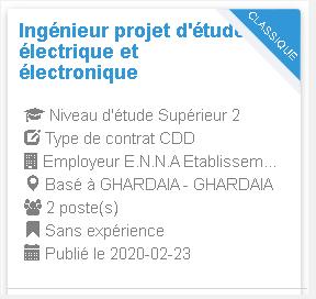 Ingénieur projet d'étude électrique et électronique