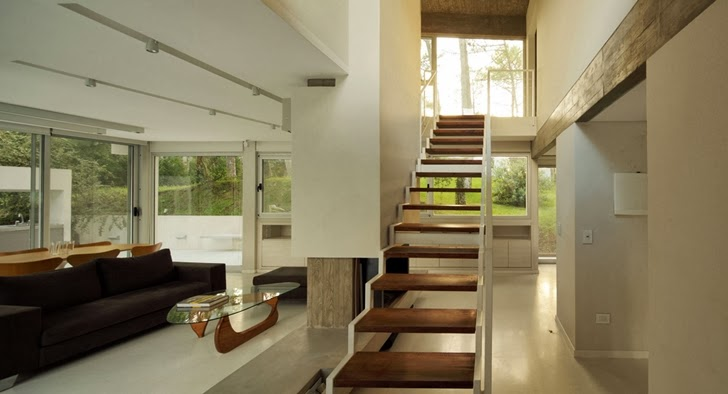 Stairs in Modern Vacation House in Cariló, Argentina