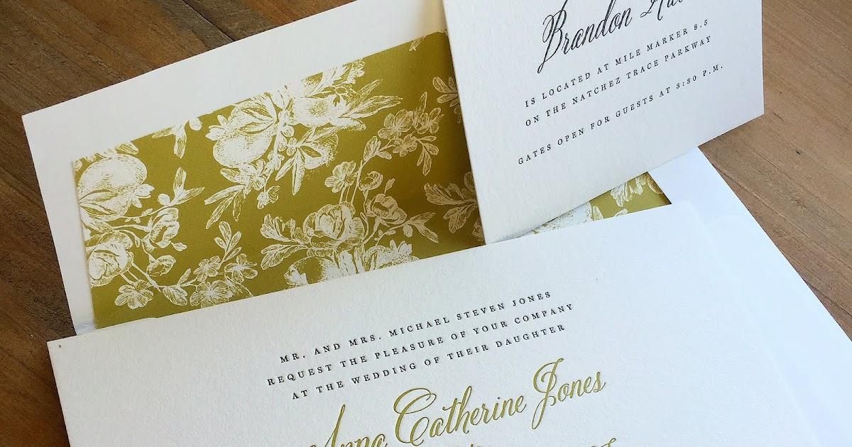 Wedding Invitations Jackson Ms: Anna Catherine Jones And Michael Steven Frew Wedding