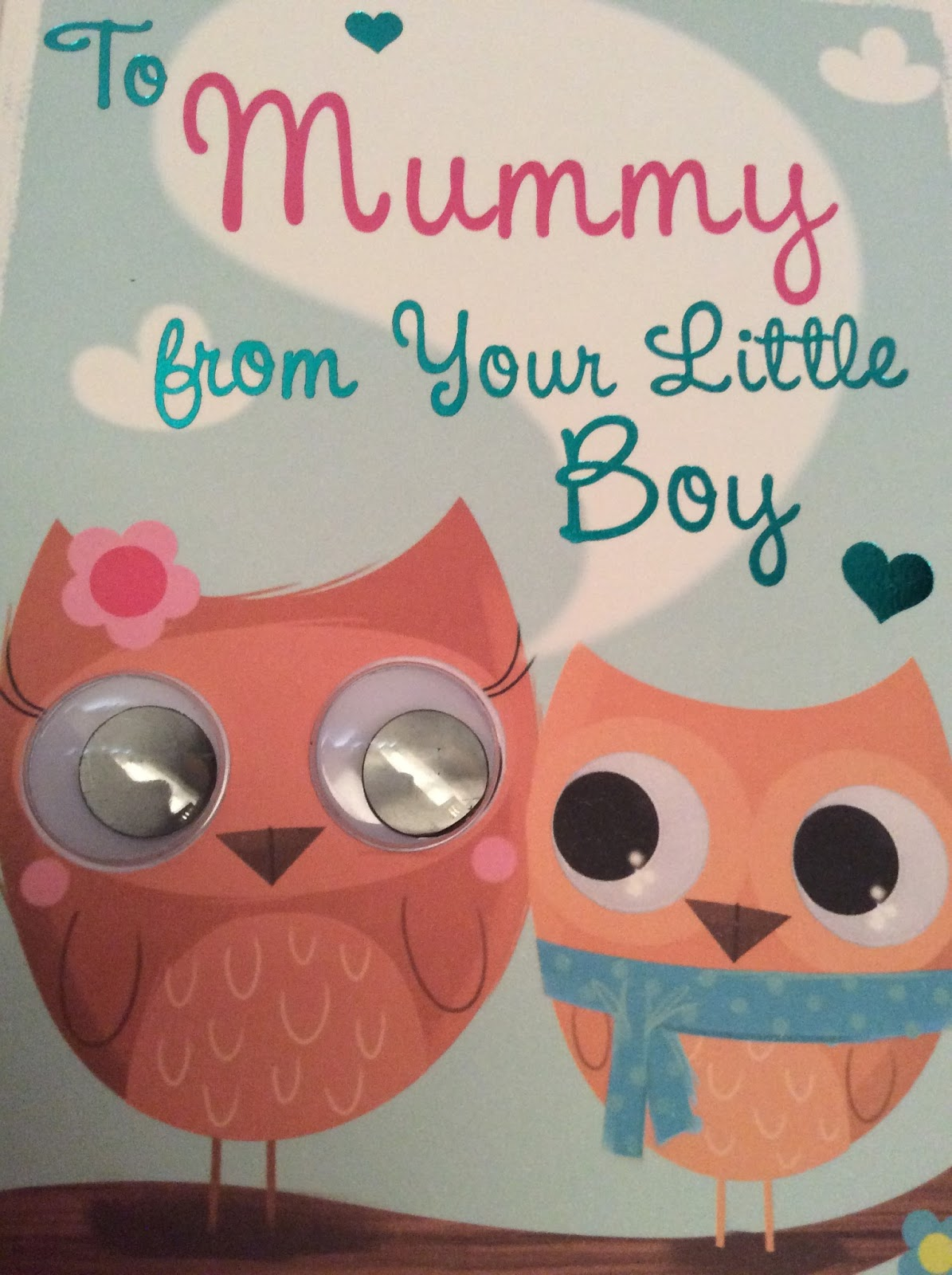 Mothering Sunday card fro Alexander