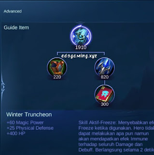 penjelasan lengkap item mobile legends item winter truncheon