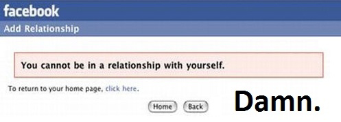 you cannot be in a relationship with yourself