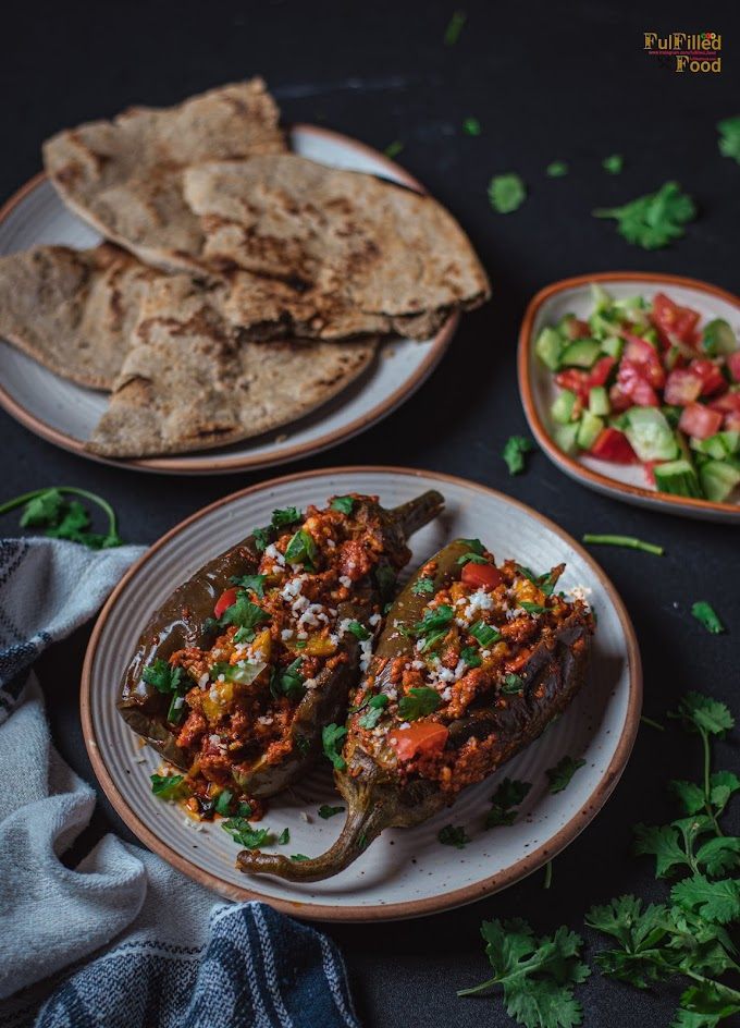 Stuffed Paneer Brinjal : Tasty Yummy and Healthy : Gujarati Styles Food
