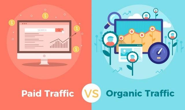 paid traffic vs organic website traffic seo versus ppc better source google search