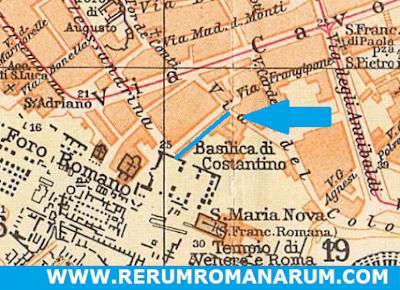 Mappa Touring 1925 Via Tempio della Pace