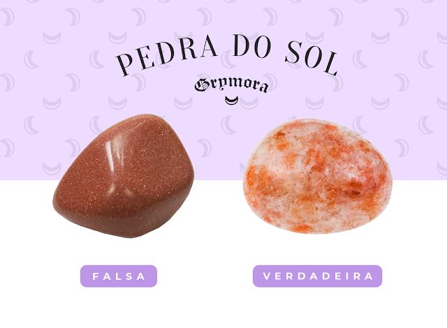 Pedra do sol verdadeira e falsa
