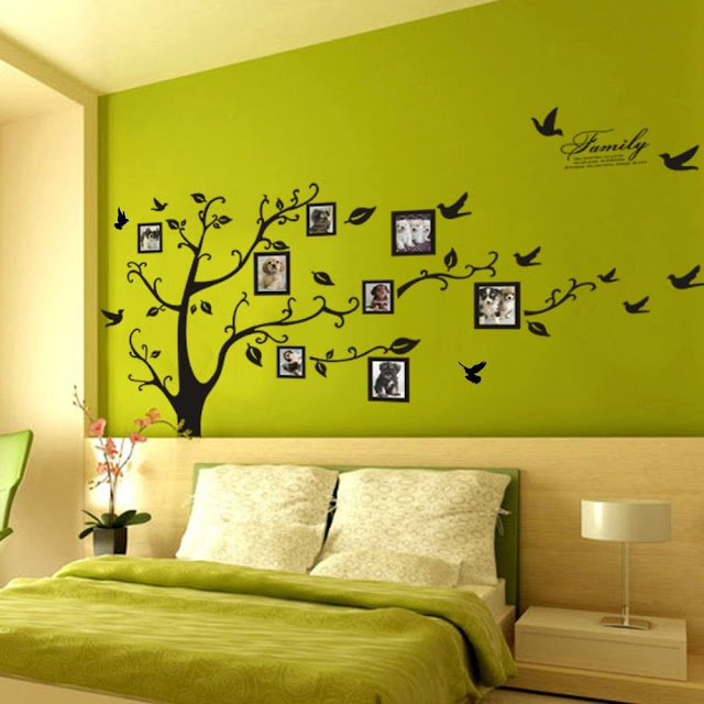 MR. STRONG Huge Size Natural Tree Bird Wall Stickers