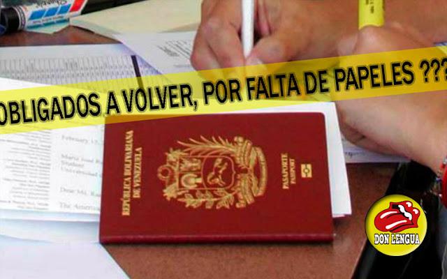 Venezolanos en el exterior quedarán indocumentados e ilegales en los próximos meses