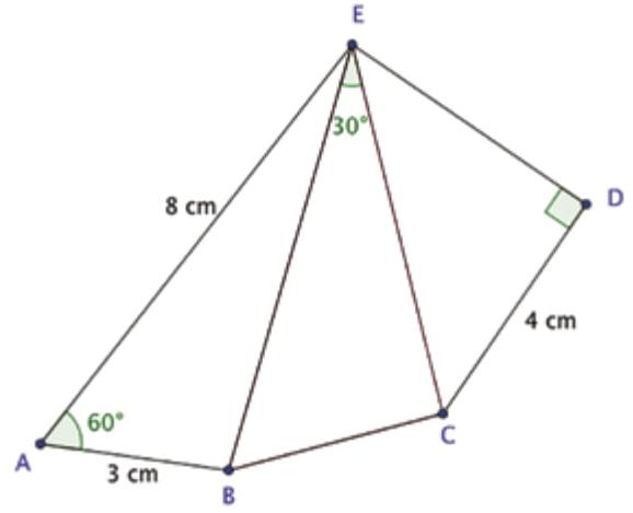 (Albert Einstein 2017) No pentágono ABCDE da figura, o lado