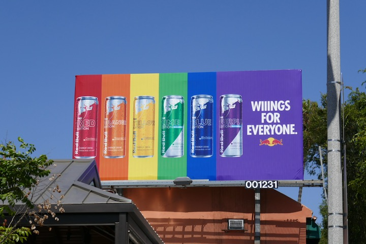 wings Everyone Red Bull Flavors billboard