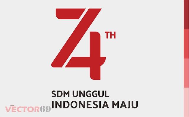 Logo HUT RI ke 74 Tahun 2019, SDM Unggul Indonesia Maju - Download Vector File PDF (Portable Document Format)
