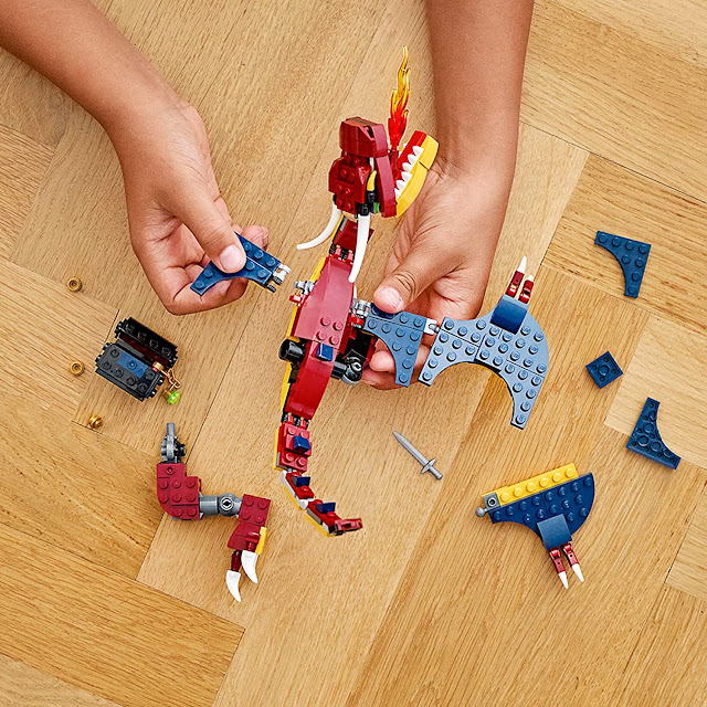 Lego fire Dragon Building Kit