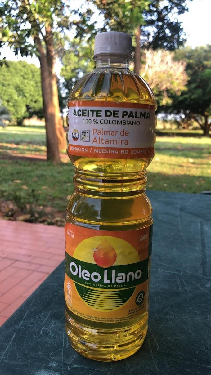 Fedepalma y sector palmero de Orocué, Casanare, hacen donación de 14.000 litros de aceite a comunidades vulnerables
