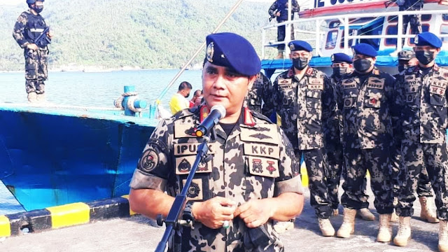 KKP Tangkap Dua Kapal Pencuri Ikan Dilaut Sulawesi.