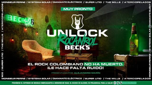 Beck´s reúne a grandes músicos colombianos para hacer rugir al rock en Colombia con Unlock el Rocanrol