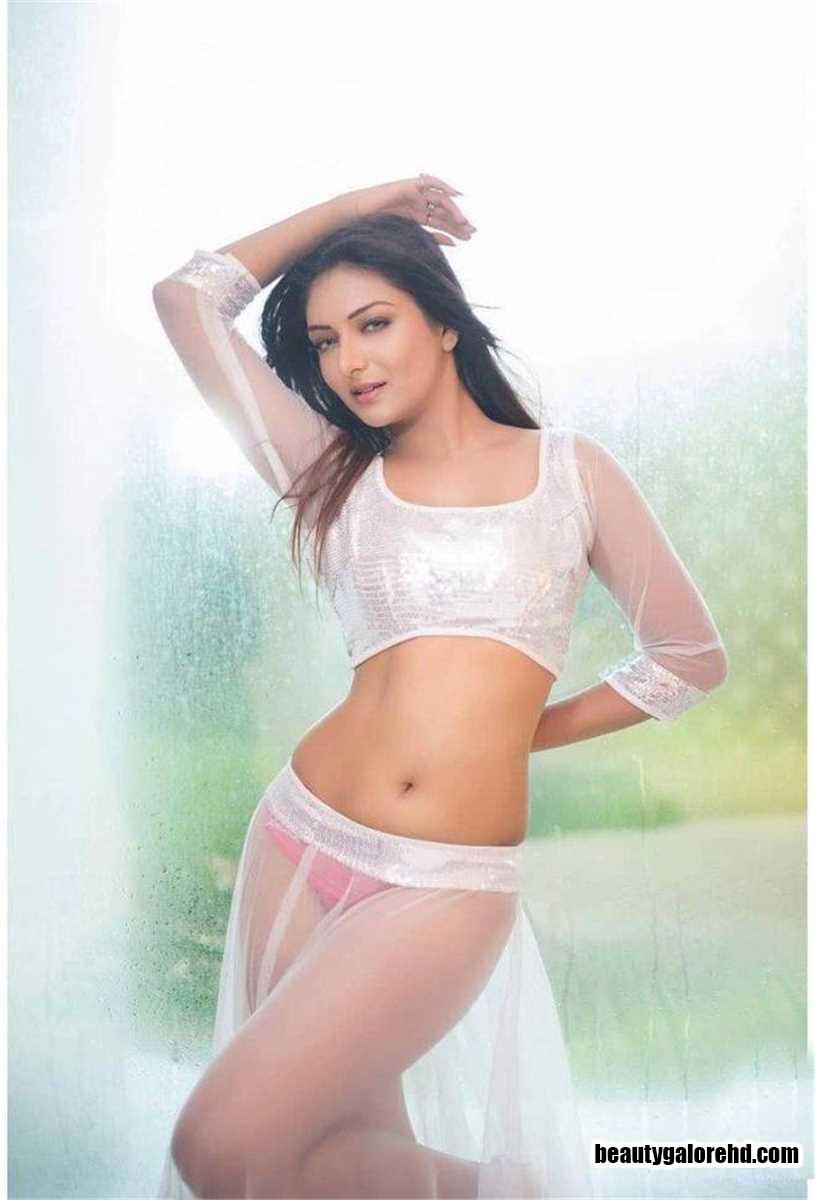 Khusi Mukherjee Red Panty Fully Visible In Sheer Transparent Skirt