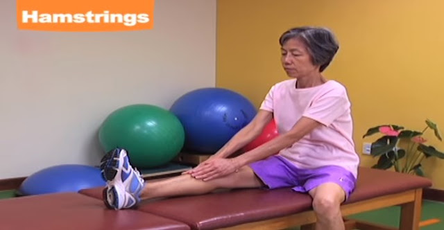 Stretching Hamstring thightness exercise
