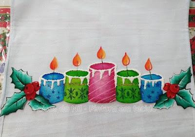 pintura de natal barrado de velas