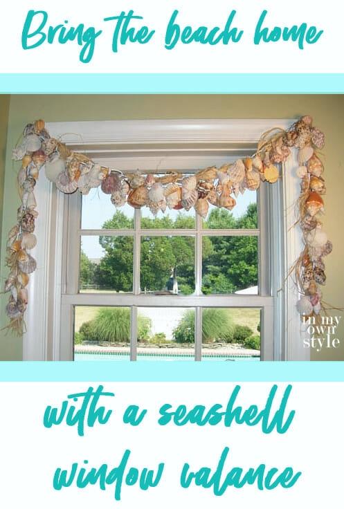 How to Make Seashell Window Treatment Valance