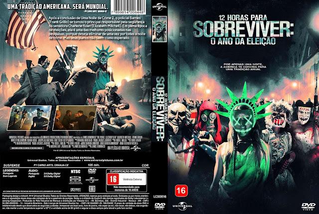 Capa DVD 12 Horas Para Sobreviver O Ano Da Eleição