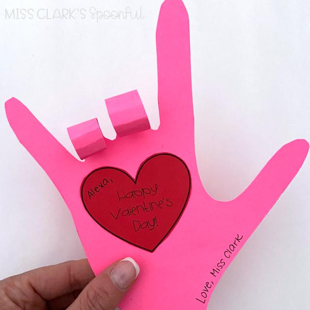 ASL I love you hand valentine