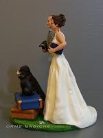 Cake topper con cane e gatto