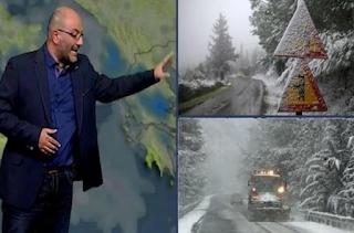 Έρχονται δύο χιονιάδες... Η νέα ενημέρωση του Σάκη Αρναούτογλου για Αττική και Θεσσαλονίκη