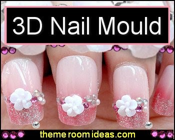 3D Nail Art Mould Cast-nail decorations-nail design ideas
