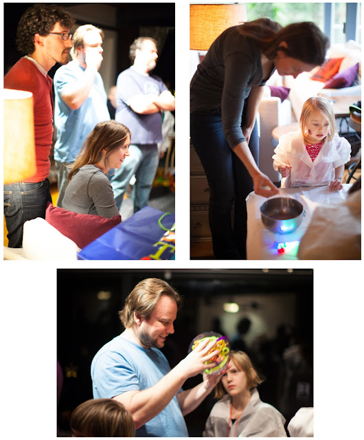 Even the grown-ups had fun with the experiments at our party!