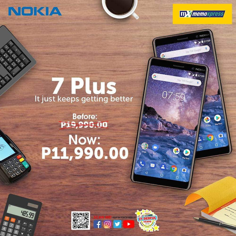 Sale Alert: MemoXpress slashes the price of Nokia 7 Plus, down to PHP 11,990!