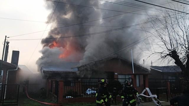 Osorno: incendio afectó vivienda del sector oriente