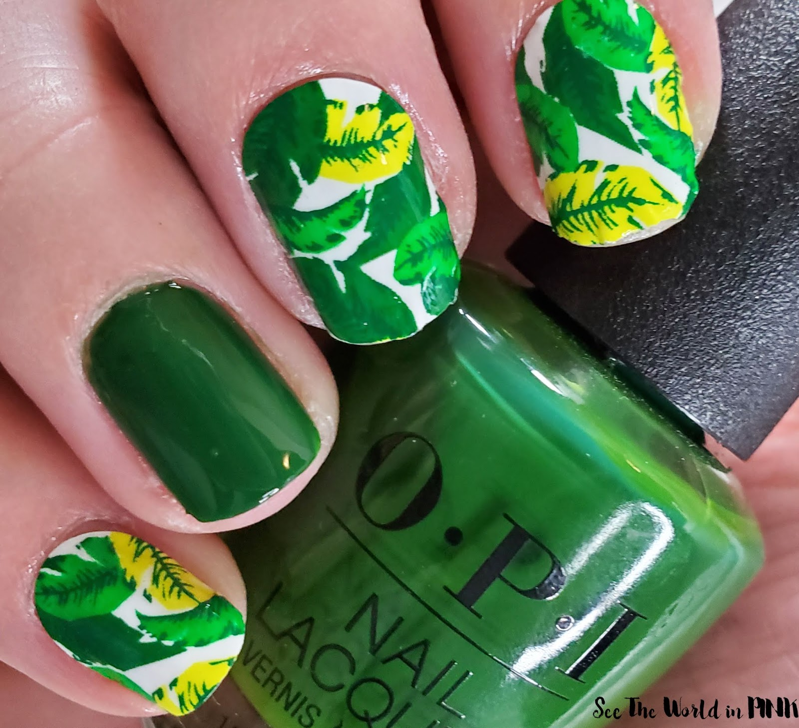 Manicure Monday - Green and Leafy Nails