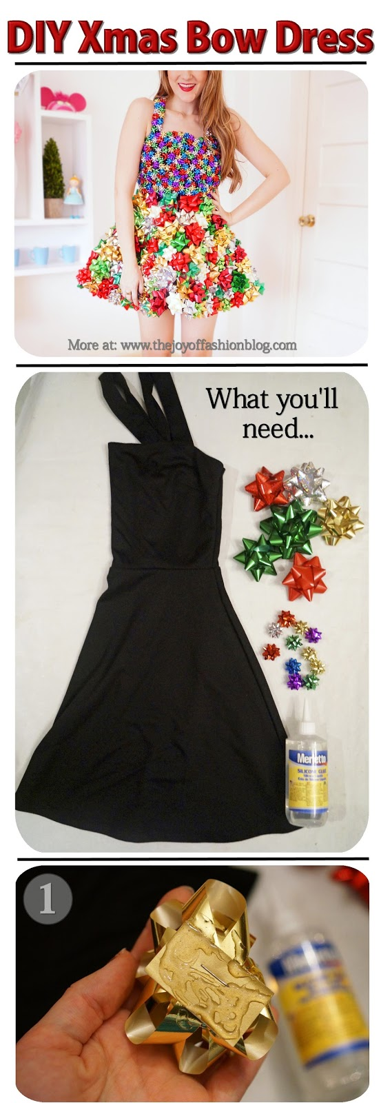 Christmas Bow Dress Tutorial, Part 1