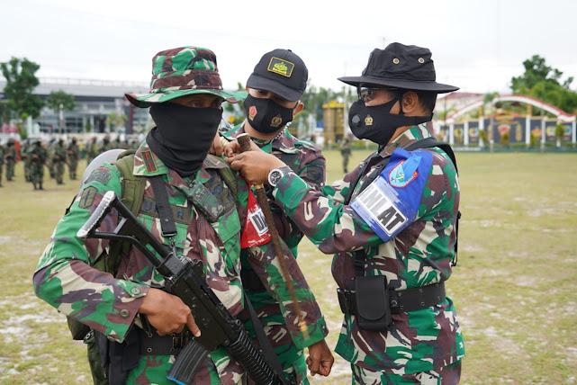 Danrem 102/Pjg membuka Latihan Pemantapan Raider Yonif R 631/Antang TA 2020