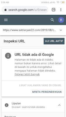 Cara index artikel ke Google