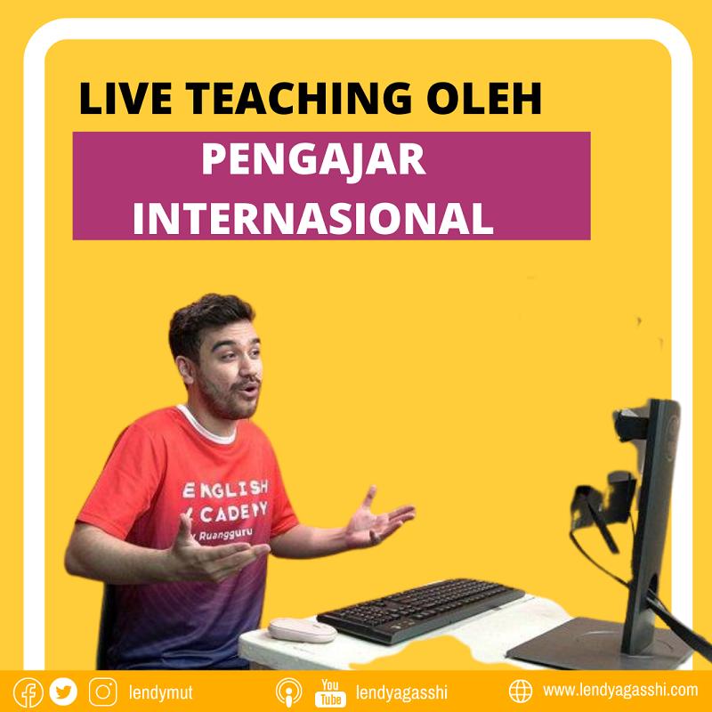 Keunggulan English Academy :Belajar secara live dan interaktif