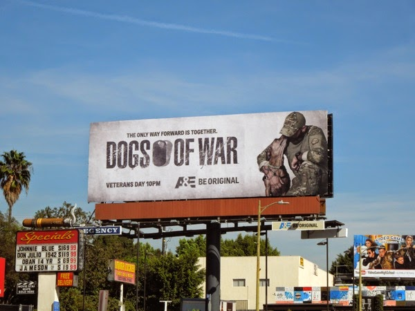 Dogs of War series launch billboard
