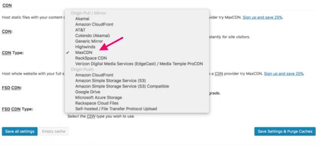 การใช้ MaxCDN - content delivery network ทำให้โหลดหน้าเว็บเพจได้เร็วขึ้นเป็นปัจจัยหนึ่งของ seo
