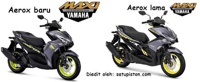 7 Perbedaan Aerox 155 Baru (2021) Dengan Aerox 155 Lama
