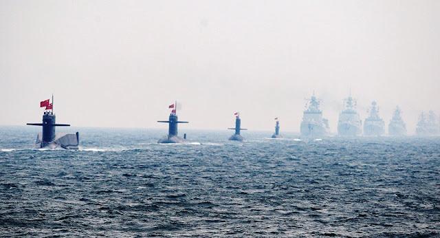 China exibe crescente poder naval com maior parada militar marítima de sempre