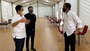 Presiden Jokowi Tinjau Rumah Oksigen Gotong Royong