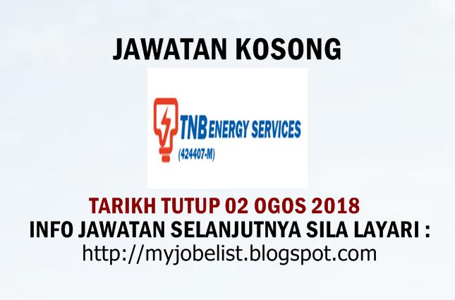 Jawatan Kosong TNB Energy Services (TNBES) Ogos 2018