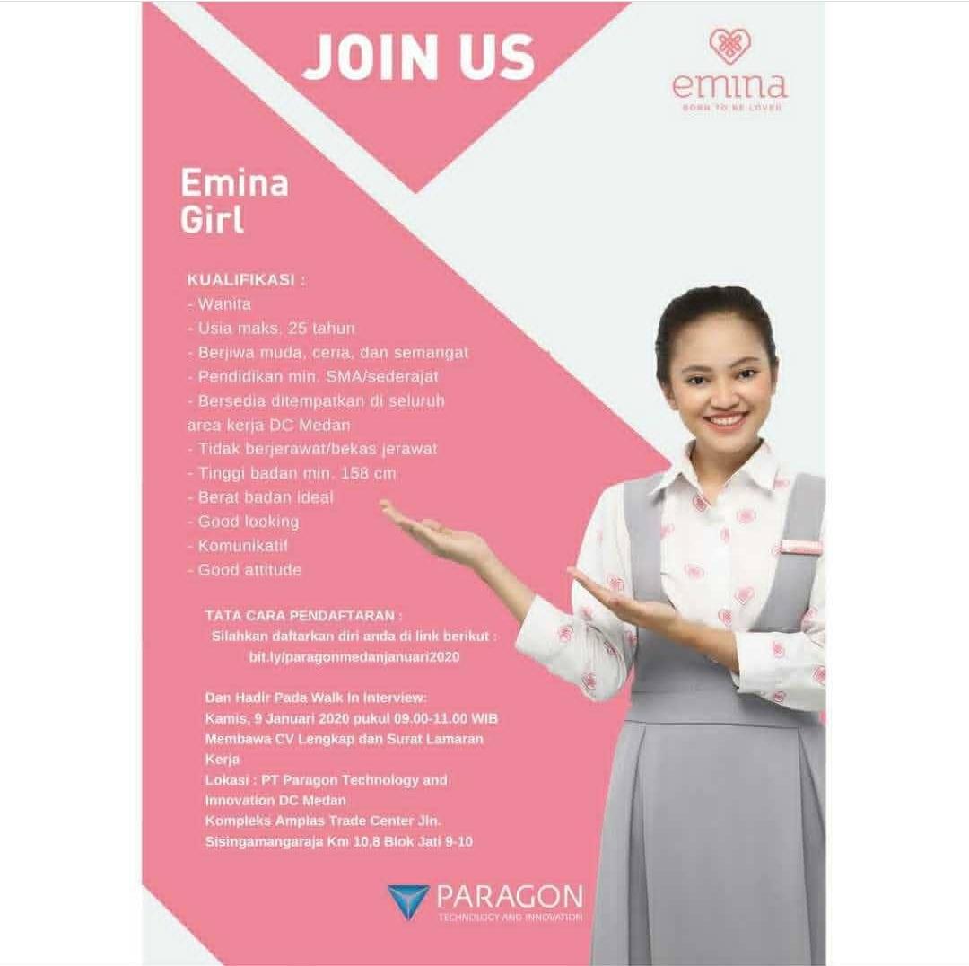 Informasi Loker Medan Terbaru Emina Girl Di Pt Paragon Technology And Innovation Poskerjamedan Com