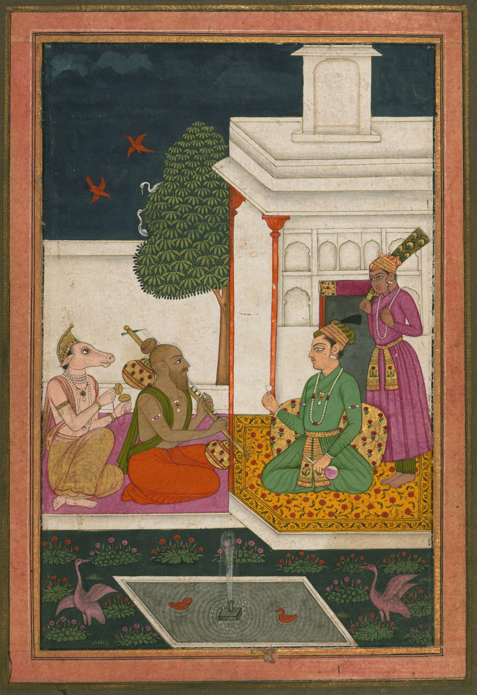 Sri raga - Miniature Painting, Ragamala series, 19th Century