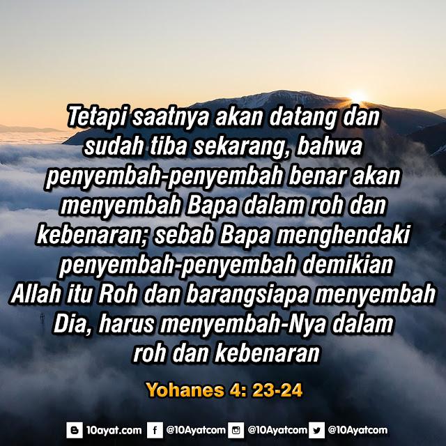 Yohanes 4: 23-24