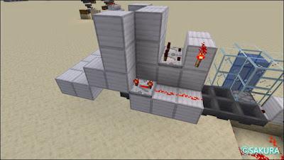 マインクラフト 自動仕分け倉庫のアイテム投入口