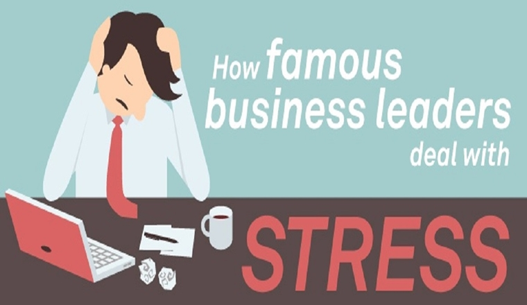 How Famous Business Leaders Deal With Stress #infographic