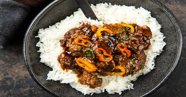 Slow Cooker Korean Beef With Sweet Baby Peppers Recipe