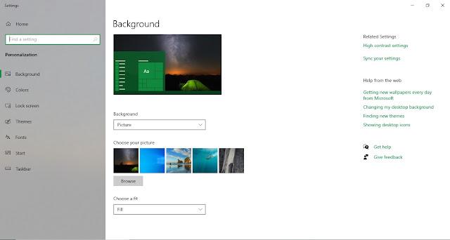 Bagaimana Cara Mengganti Wallpaper Windows 10?