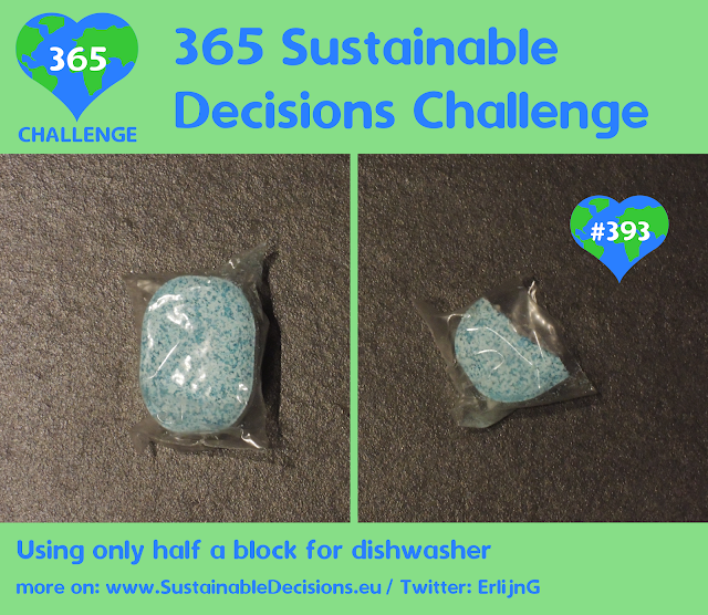 #393 - Using only half a block for dishwasher, sustainable living, sustainability, climate action